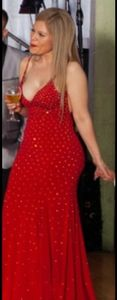 Red Jersey Beaded  Dress (ONLY USED 1 TIME)